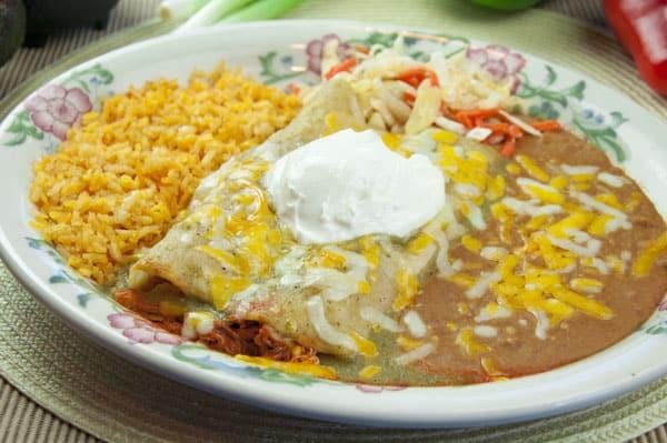 enchiladas suizas fiesta mexicana