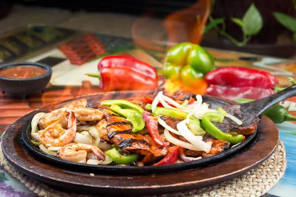the best fajitas in town, fiesta mexicana